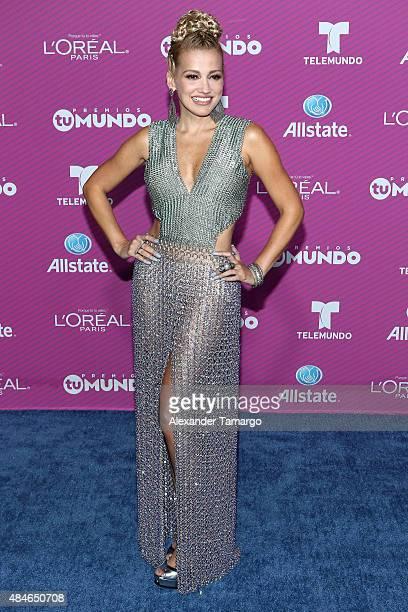 Fanny Lu arrives at Telemundo's Premios Tu Mundo Awards at American Airlines Arena on August 20 2015 in Miami Florida