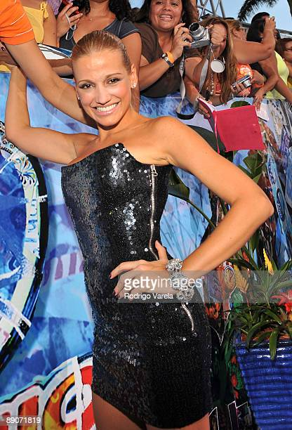 Fanny Lu arrives on the red carpet at the Univision's 2009 Premios Juventud Awards at Bank United Center on July 16 2009 in Coral Gables Florida