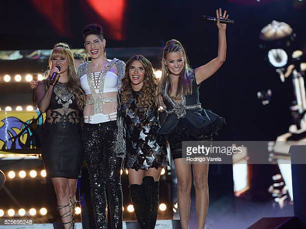 Fanny Lu HaAsh and Kany Garcia onstage at the Billboard Latin Music Awards at Bank United Center on April 28 2016 in Miami Florida