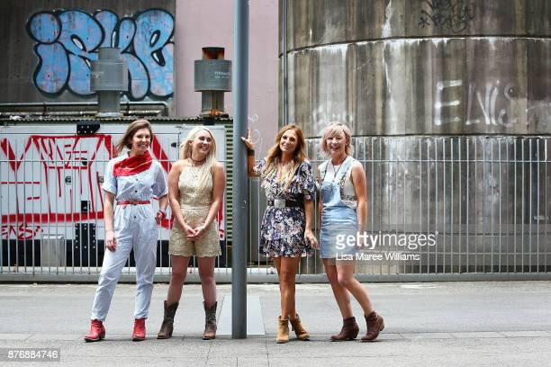 Fanny Lumsden Aleyce Simmonds Kasey Chambers and Ashleigh Dallas pose during the 2018 Golden Guitar Awards Finalist Announcement on November 21 2017...