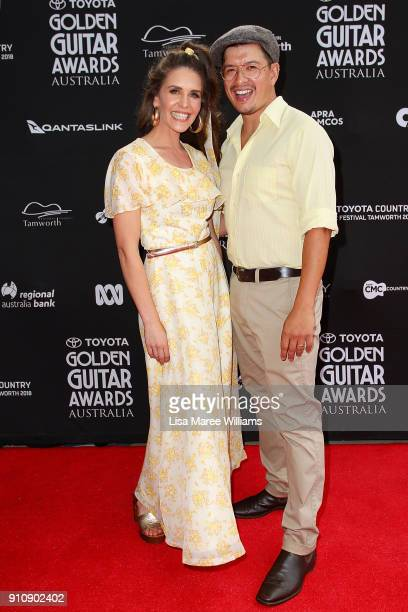 Fanny Lumsden and Dan Stanley Freeman arrive at the 2018 Toyota Golden Guitar Awards on January 27 2018 in Tamworth Australia