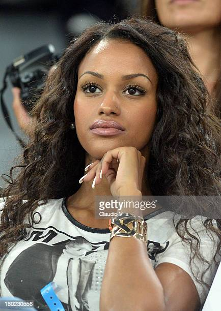Fanny Neguesha attends the FIFA 2014 World Cup Qualifier group B match between Italy and Czech Republic at Juventus Arena on September 10 2013 in...
