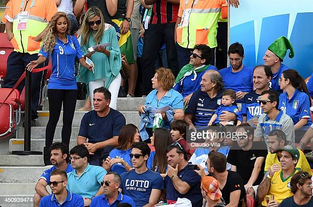 Fanny Neguesha fiancee of Mario Balotelli of Italy looks on during the 2014 FIFA World Cup Brazil Group D match between Italy and Costa Rica at Arena...
