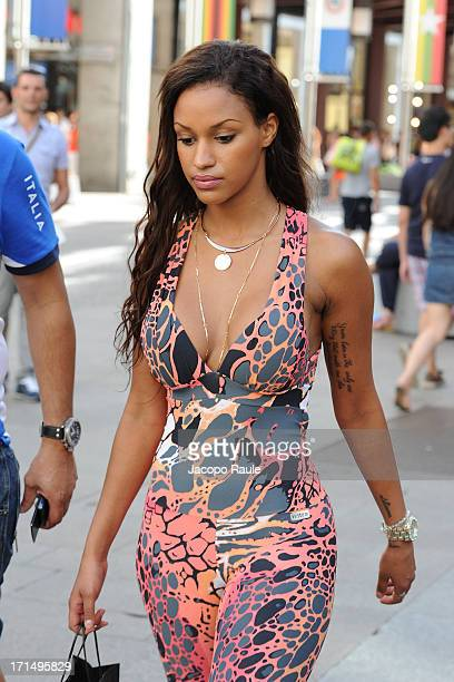 Fanny Neguesha is seen on June 25 2013 in Milan Italy