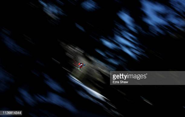 Fanny Smith of Switzerland competes in the Ski Cross Qualification during the FIS Freestyle Ski World Championships on February 01 2019 at Solitude...