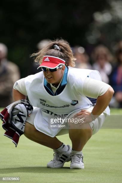 Fanny Sunesson caddie de Henrik Stenson BMW PGA Championship Golf The Wentworth Club Surrey