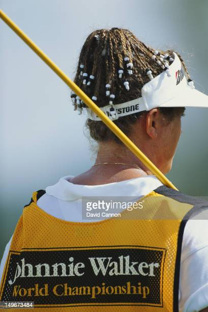 Fanny Sunesson the caddy for Nick Faldo during the Johnnie Walker World Golf Championship on 19th December 1991 at the Tryall Golf Club in Hanover...