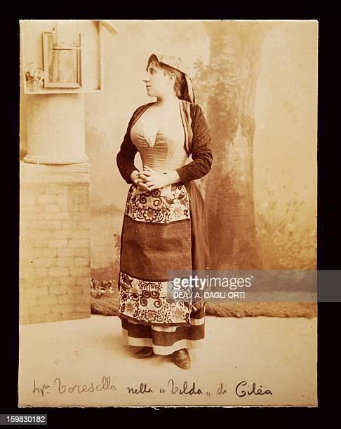 Fanny Toresella soprano as Tilda in the homonymous opera by Francesco Cilea Palmi Casa Della Cultura Museo Francesco CileaNicola Antonio Manfroce