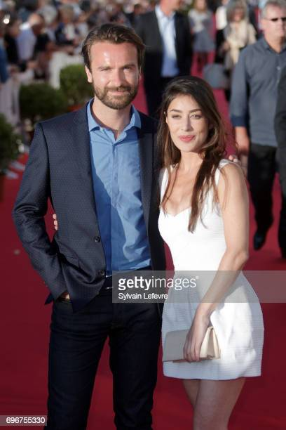Fanny Valette Amaury De Crayencour attend red carpet of 3rd day of the 31st Cabourg Film Festival on June 16 2017 in Cabourg France