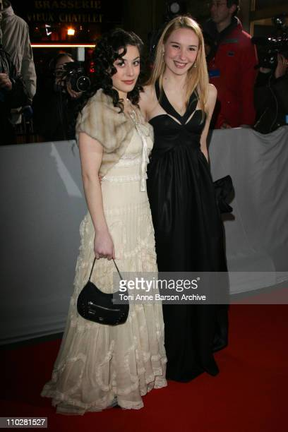 Fanny Valette and Deborah Francois during 2006 Cesar Awards Ceremony Arrivals at Theatre du Chatelet in Paris France