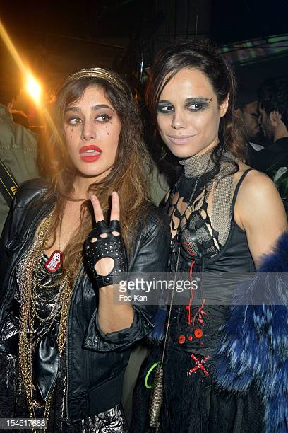 Fanny Valette and Melissa Mars attend the 'Chaos 2099' Apocalypse Costume Ball hosted by Les Ambassadeurs In Entrepots Babcock on October 20 2012 in...