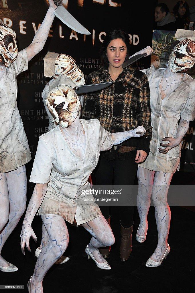 Fanny Valette attends the Paris Premiere for the film 'Silent Hill Revelation 3D' at Gaumont Capucines on November 25, 2012 in Paris, France.