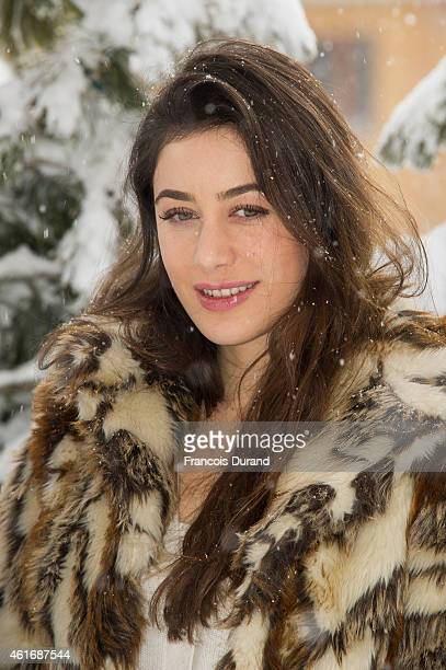 Fanny Valette poses at a photocall for 'A love you' during the 18th L'Alpe D'Huez International Comedy Film Festival in l'Alpe d'Huez France