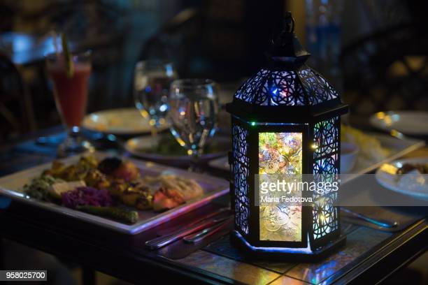 fanoos at iftar table - iftar stock pictures, royalty-free photos & images