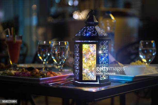 fanoos at iftar table - ramadan stock pictures, royalty-free photos & images