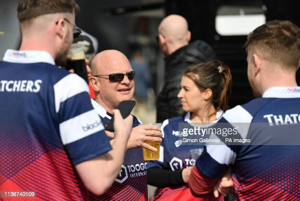 Fans ahead of the Gallagher Premiership match at Ashton Gate, Bristol.