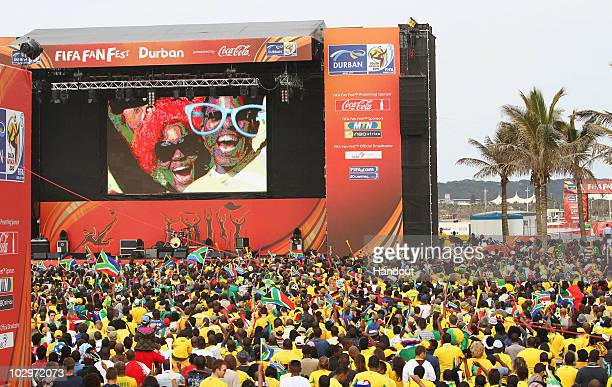 Fans and activities during the FIFA Fan Fest held at the Beachfront on June 11 2010 in Durban South Africa