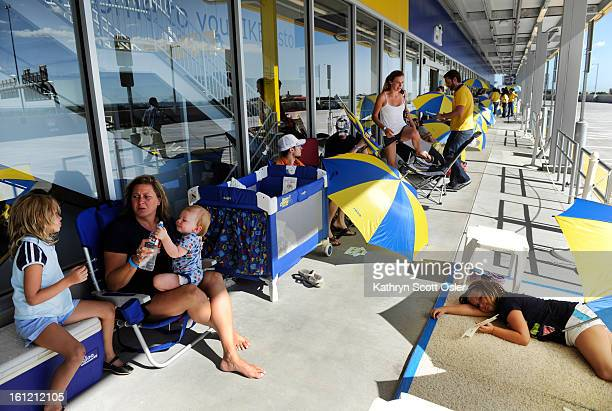 Fans and future customers of IKEA arrived as early as 7 am Sunday morning to begin to form a line in front of the IKEA store in Centennial People...
