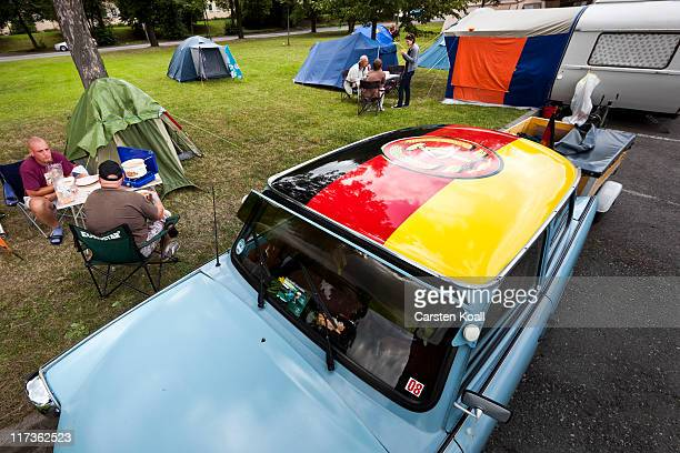 Fans and owners of East Germanera Trabant cars gather at the 2011 International Trabantfahrer Treffen on June 25 2011 in Zwickau Germany The Trabant...