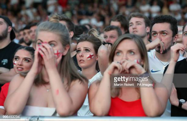 Fans Are Dejected Following Englands Loss To Croatia In The FIFA World Cup Semi Final Pictured