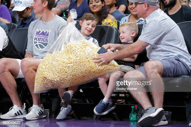 Fans are photographed during the game between the Miami Heat and Sacramento Kings during the 2018 Summer League at the Golden 1 Center on July 5 2018...