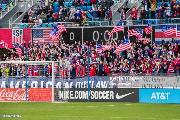 US fans are ready before the US Men's National Team friendly soccer match against Costa Rica on February 2 2019 at Avaya Stadium in San Jose CA