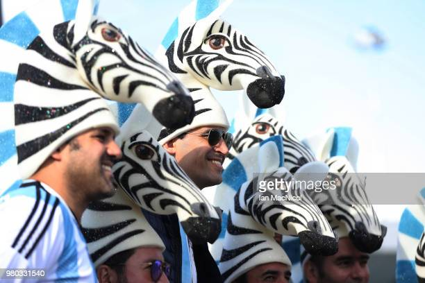 Fans are seen during the 2018 FIFA World Cup Russia group D match between Argentina and Croatia at Nizhny Novgorod Stadium on June 21 2018 in Nizhny...