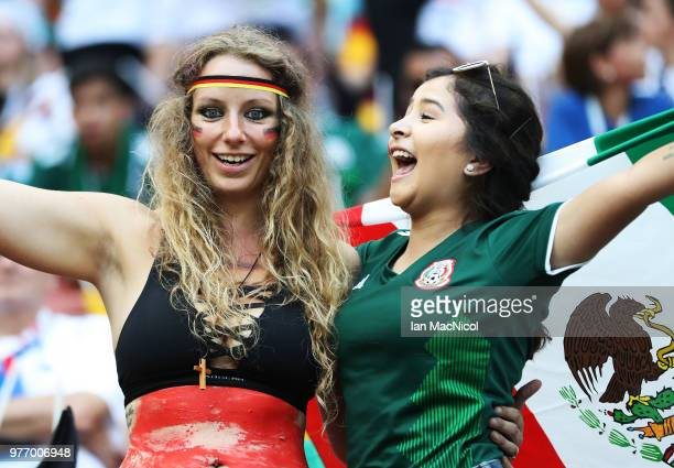 Fans are seen during the 2018 FIFA World Cup Russia group F match between Germany and Mexico at Luzhniki Stadium on June 17 2018 in Moscow Russia