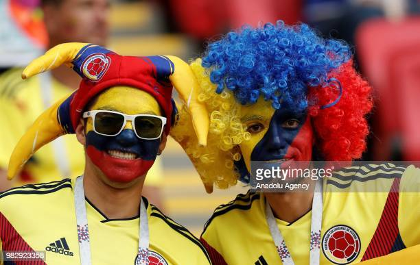 Fans are seen during the 2018 FIFA World Cup Russia Group H match between Poland and Colombia at the Kazan Arena Stadium in Kazan Russia on June 2018