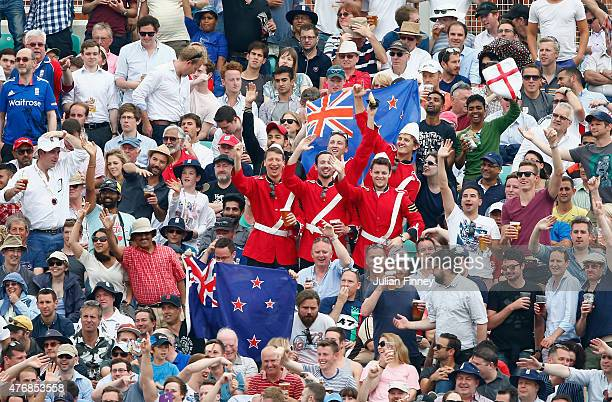Fans are seen during the 2nd ODI Royal London OneDay Series 2015 at The Kia Oval on June 12 2015 in London England