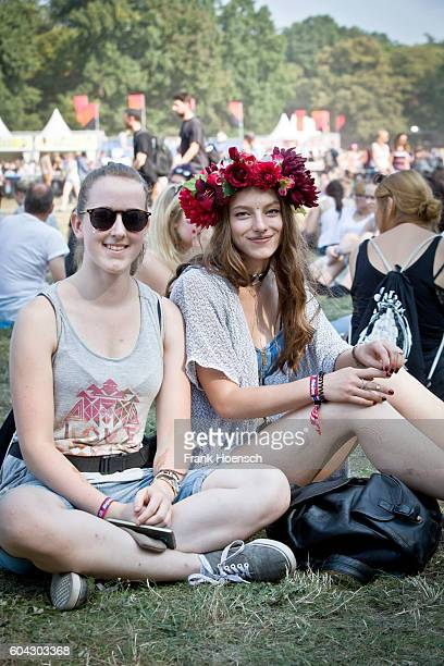 Fans are seen during the first day of Lollapalooza Festival at the Treptower Park on September 10 2016 in Berlin Germany