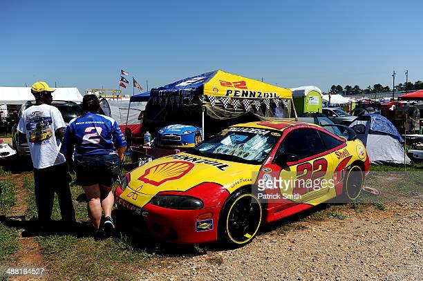 Fans are seen in the infield before the NASCAR Sprint Cup Series Aaron's 499 at Talladega Superspeedway on May 4 2014 in Talladega Alabama