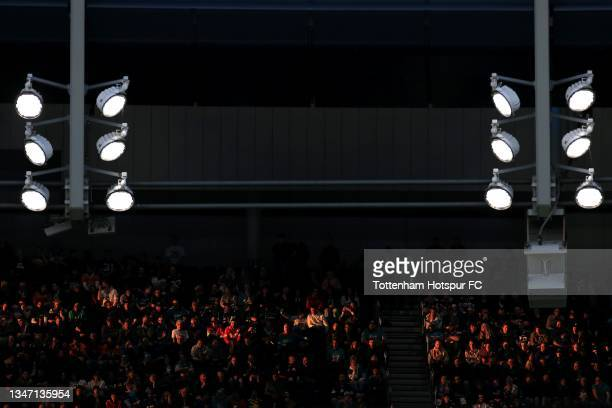 Fans are seen in the stadium during the NFL London 2021 match between Miami Dolphins and Jacksonville Jaguars at Tottenham Hotspur Stadium on October...