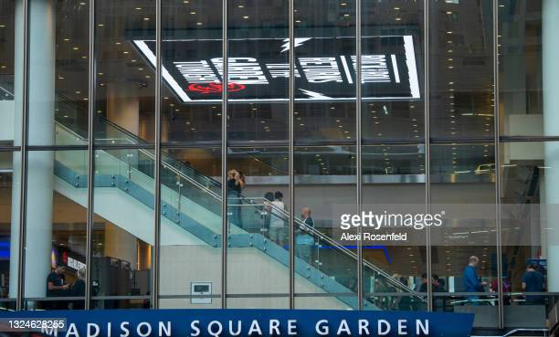 Fans are seen inside Madison Square Garden ahead of the Foo Fighters concert at on June 20, 2021 in New York City. The Foo Fighters concert is the...
