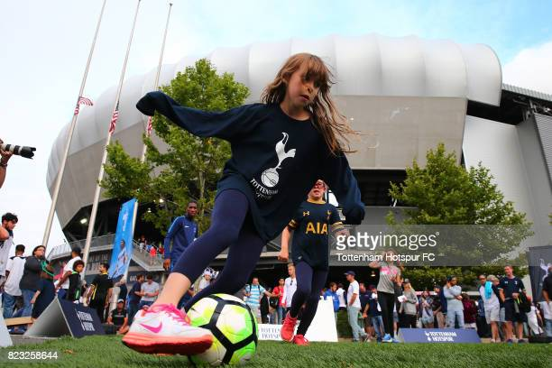 Fans are seen prior to th estart of the match between the Tottenham Hotspur and the Roma during the International Champions Cup 2017 at Red Bull...