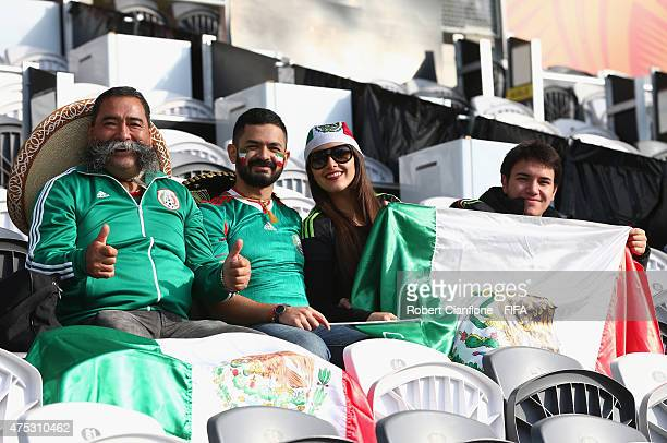 Fans are seen prior to the FIFA U20 World Cup New Zealand 2015 Group D match between Mexico and Mali at Otago Stadium on May 31 2015 in Dunedin New...