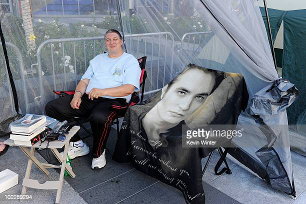Fans are shown camping out for the upcoming premiere of The Twilight Saga Eclipse at Nokia Plaza on June 21 2010 in Los Angeles California