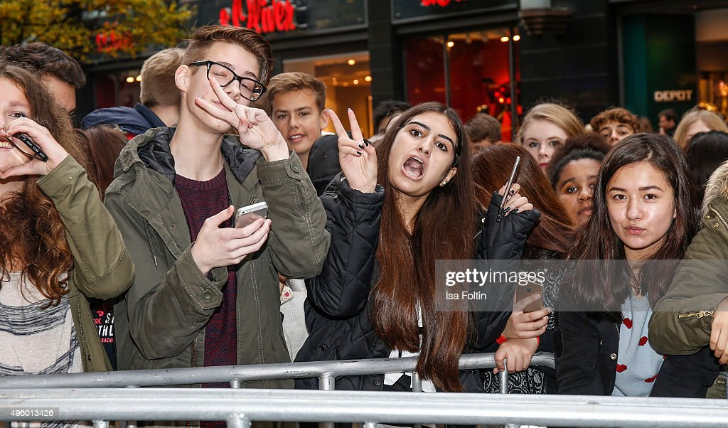 Meet greet with ariana grande in hamburg photos and images getty fans are waiting for ariana grande during the meet greet with ariana grande to promote m4hsunfo Choice Image