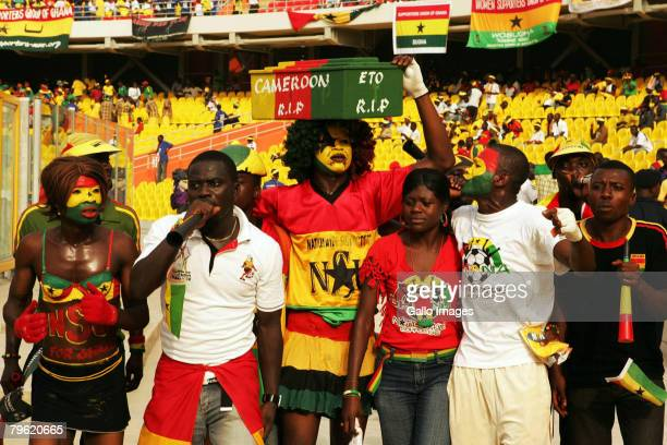 Fans arrive ahead of the AFCON semi-final match between Ghana and Cameroon held at the Ohene Djan Stadium February 7, 2008 in Accra, Ghana.
