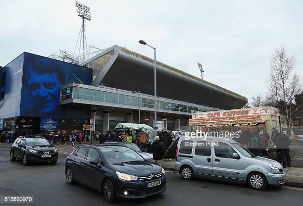 Fans arrive ahead of the Sky Bet Championship match between Ipswich Town and Nottingham Forest at Portman Road on March 5 2016 in Ipswich England