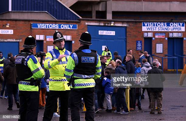 Fans arrive ahead of the Sky Bet Championship match between Sheffield Wednesday and Cardiff City at Hillsborough stadium on April 30, 2016 in...