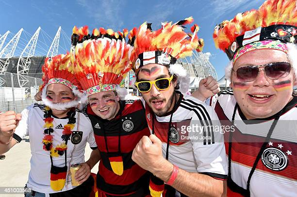 Fans arrive at Arena Castelao stadium for the Germany v Ghana Group G match during the 2014 FIFA World Cup Brazil on June 21 2014 in Fortaleza Brazil