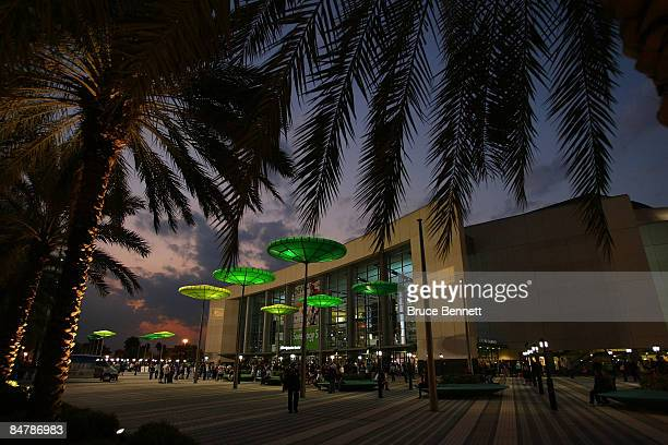 Fans arrive at the game between the New York Rangers and the Florida Panthers on February 13, 2009 at the BankAtlantic Center in Sunrise, Florida.