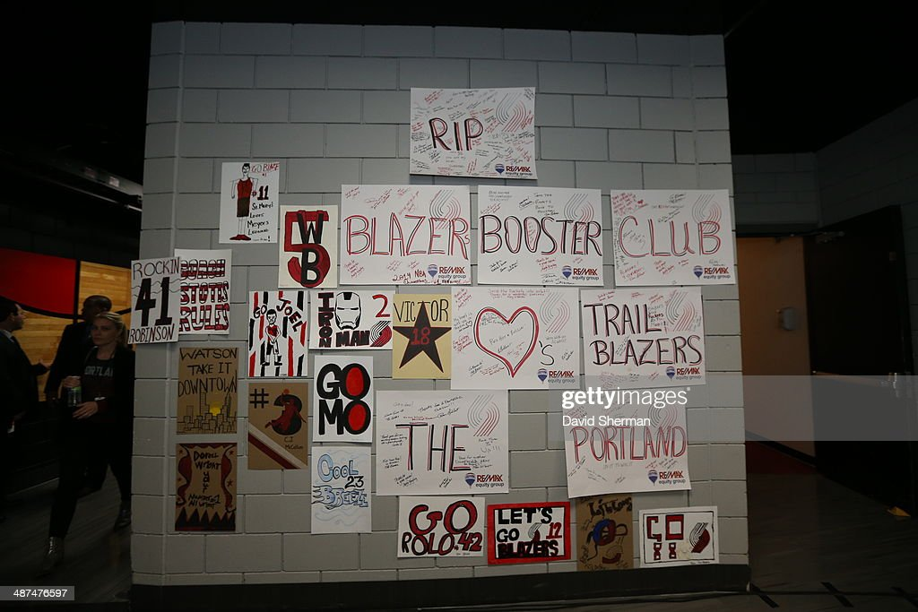 Fans arrive before the Portland Trail Blazers play against the Houston Rockets in Game Four of the Western Conference Quarterfinals during the 2014 NBA Playoffs on April 27, 2014 at the Moda Center in Portland, Oregon.