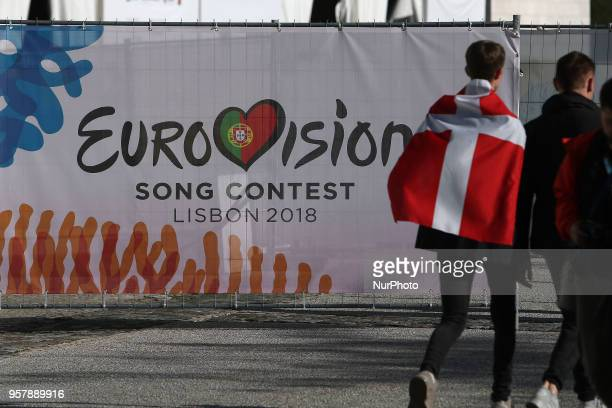 Fans arrive for the 2018 Eurovision Song Contest Grand Final, at the Altice Arena in Lisbon, Portugal on May 12, 2018.