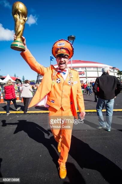 Fans arrive prior to the 2014 FIFA World Cup Brazil Group B match between Australia and Netherlands at Estadio BeiraRio on June 18 2014 in Porto...