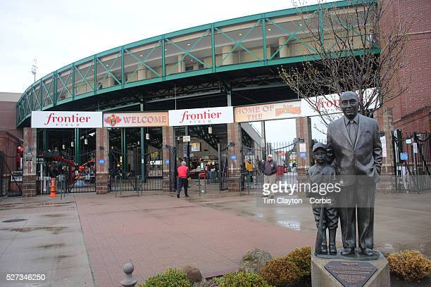 Fans arrive to Frontier Field before the Rochester Red Wings V The Scranton/WilkesBarre RailRiders Minor League Baseball game at Frontier Field...