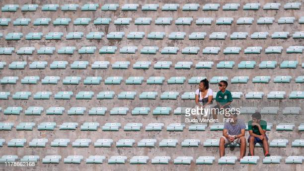 Fans arrive to watch the match during the FIFA U17 Men's World Cup Brazil 2019 group F match between Solomon Islands and Italy at Valmir Campelo...