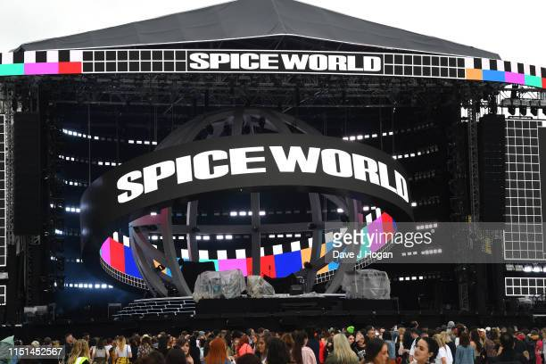 Fans arrive to watch The Spice Girls perform on the first night of the bands tour at Croke Park on May 24 2019 in Dublin Ireland
