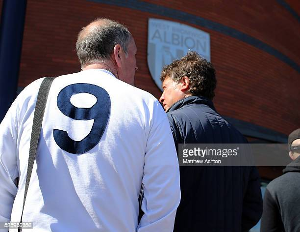 Fans arrive wearing special tshirts with the number nine on the back on Jeff Astle Day celebrating the former WBA legend who made his debut against...